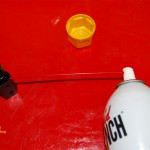 Silicone Spray Can Attached To Cable Lube Tool