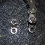 Pin Link Plate O Ring Removed From Motorcycle Chain