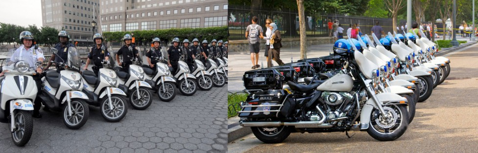 NYPD Uses Piaggio Scooters On The Streets Of New York City