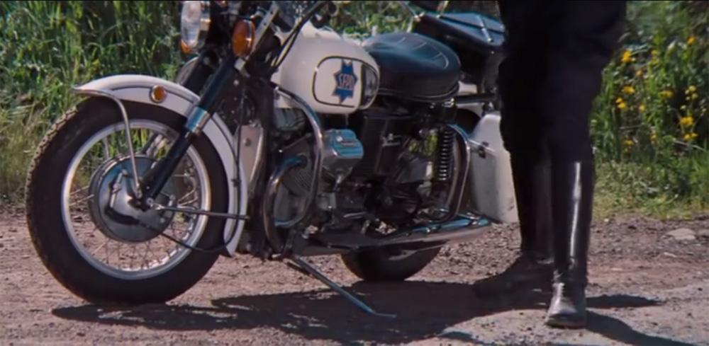 1971 moto guzzi v750 ambassador police in magnum force starring