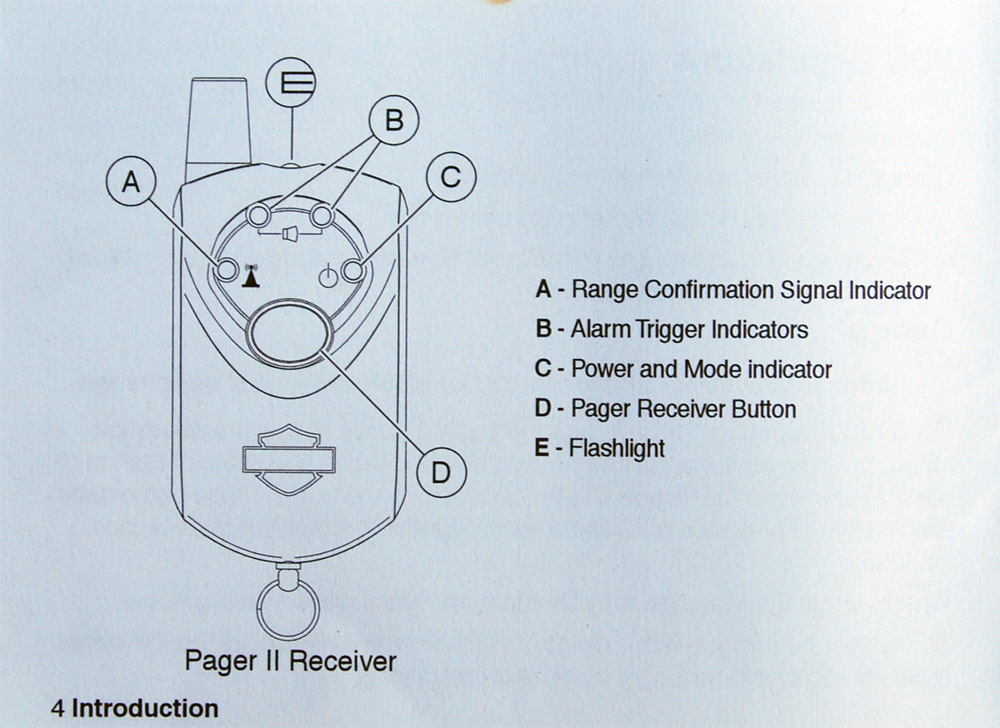 Harley Davidson Pager Receiver 2 Security System 91660-06 ... on
